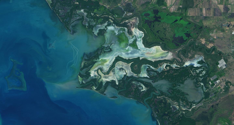 Satellite image of Río Cauto Delta