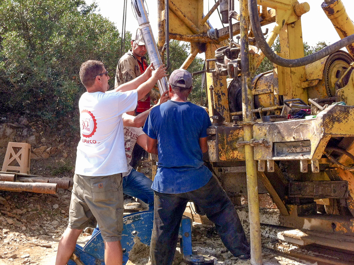 Installation of a borehole meter