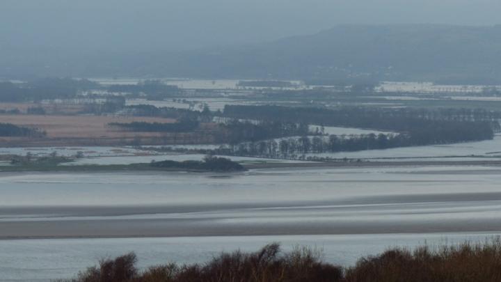 Flooding Lyth Valley, Cumbria, 2015