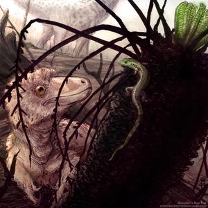 Baby Deinonychus with Sciroseps pawhuskai