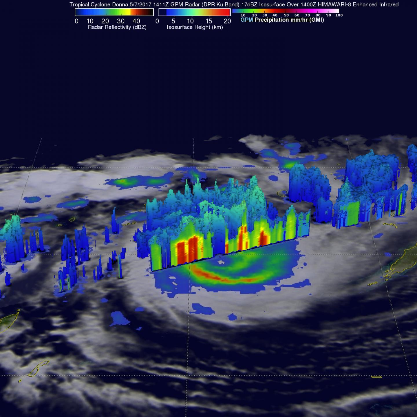 GPM Image of Donna