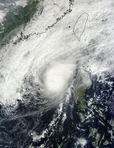 NASA's Terra Satellite Captured this Image of Bopha on Dec. 8