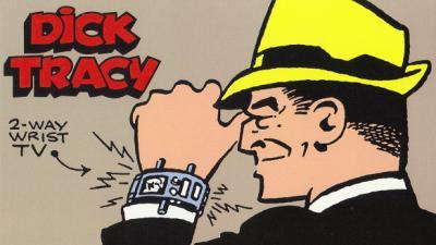 Dick Tracy with his Wrist Radio