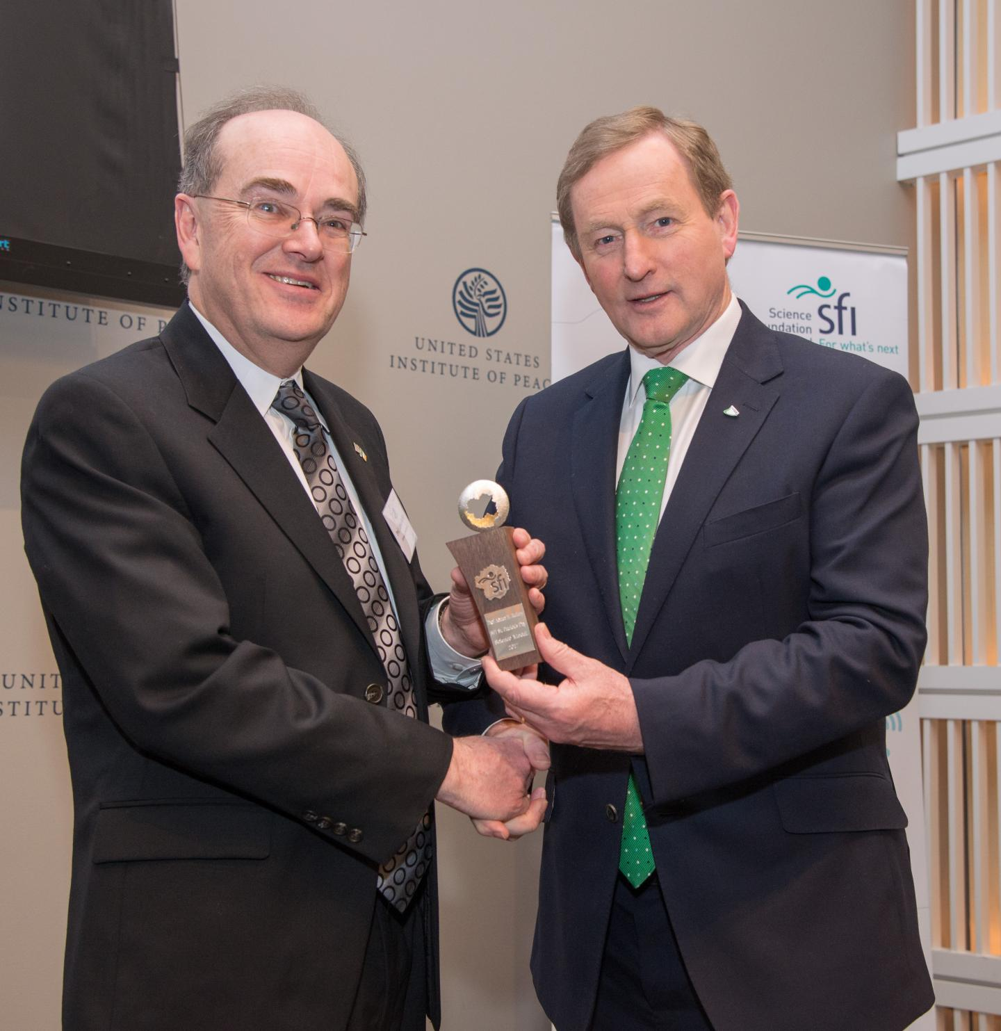 Adrian Raftery and Enda Kenny