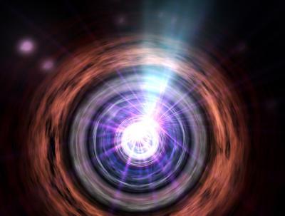 Supermassive Black Hole Creates Jets of Particles