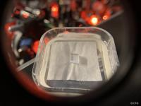close up image of a rare-earth doped crystal used as a quantum memory