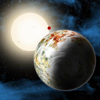 Artist's Rendering Of The Kepler-10 System And Its Mega-Earth