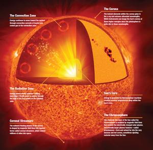 Solar anatomy image by NASA
