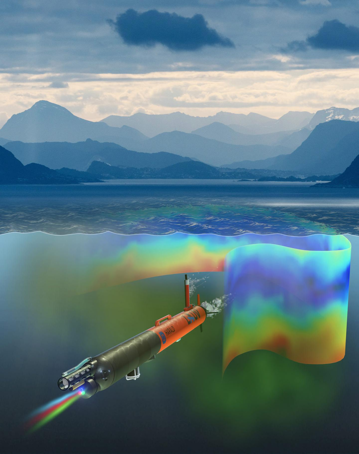 An Artist's Visualization of Harald the AUV