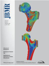 Cover of Journal of Bone and Mineral Research