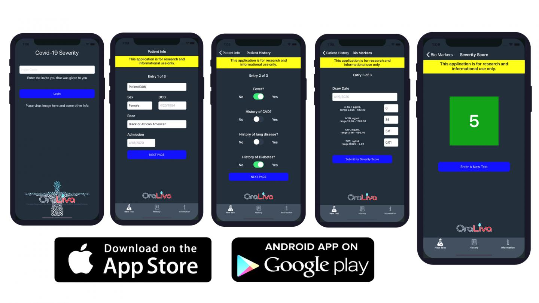 COVID-19 Severity Score App