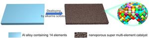 Simple fabrication of nanoporous super multi-element catalyst