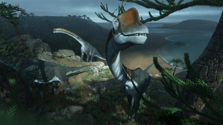 Download Original Commissioned Photorealistic Artwork of <i>Vouivria damparisensis</i> Dinosaur