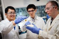 NTU Scientists Discussing their New Photocatalyst