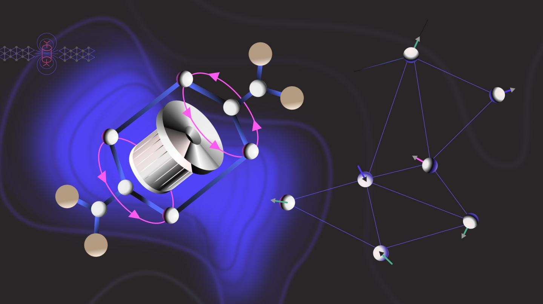 Quantum Spin Liquid Driven by Molecular Rotors
