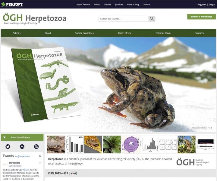 New Website for Herpetozoa Provided by ARPHA