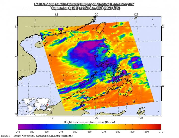 AIRS image of 19W