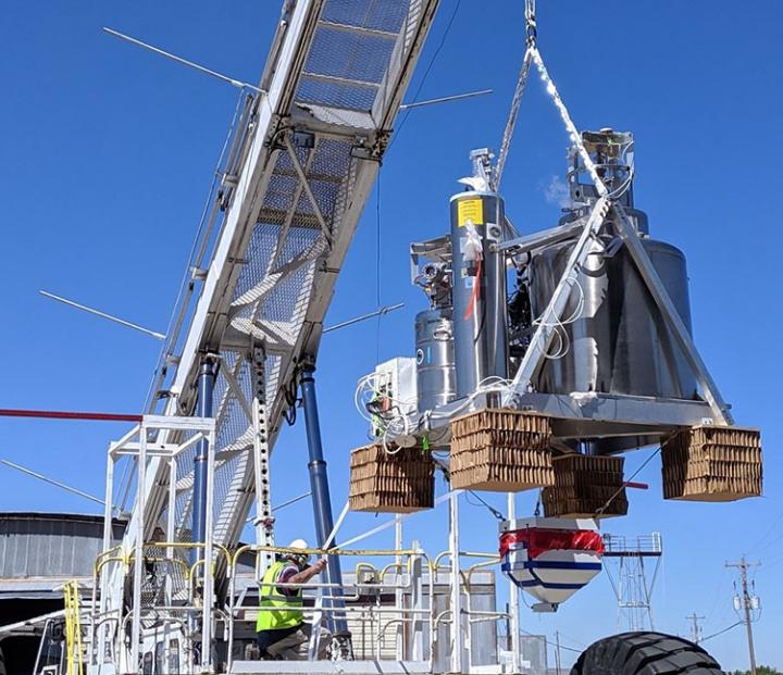 BOBCAT payload hangs from the launch vehicle