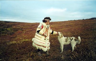 Nganasan Woman with Dog