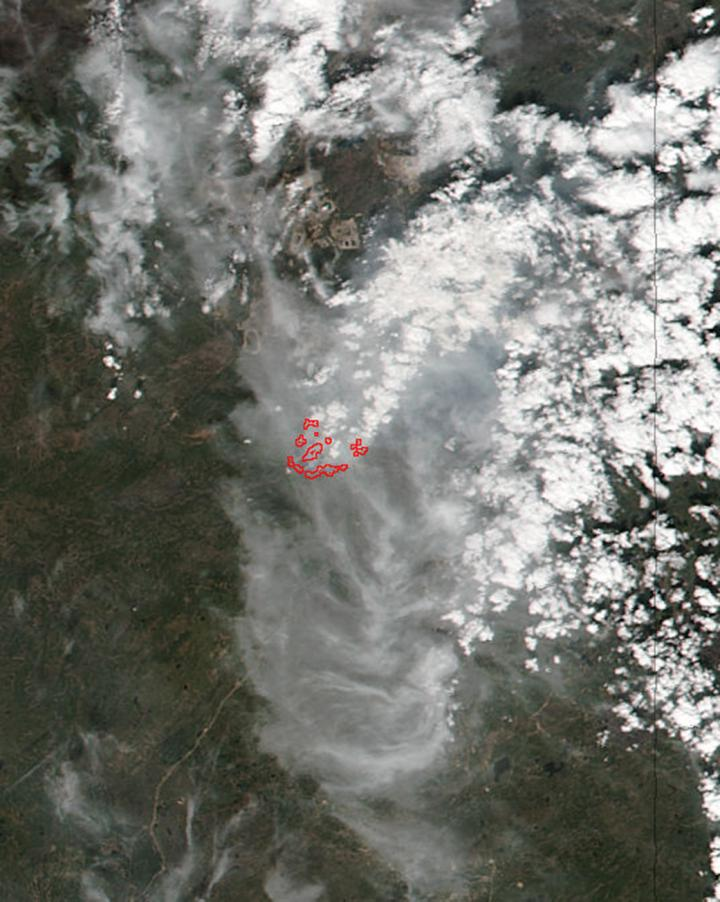 Suomi NPP Daytime Image of Ft. McMurray Fire