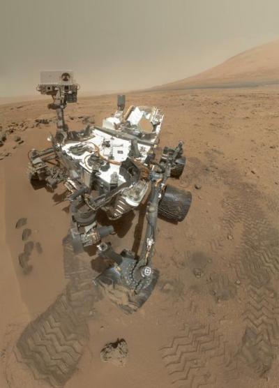 High-Resolution Self-Portrait by Curiosity Rover Arm Camera