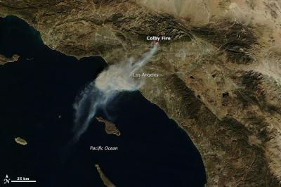 Terra Image of the Colby Fire