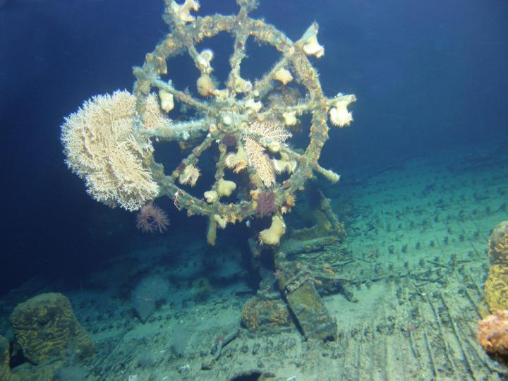 USS Kailua Wheel