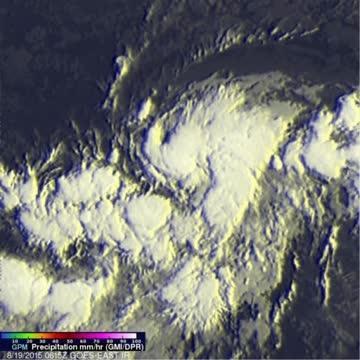 GPM Sees Tropical Storm Danny's Asymmetric Rainfall