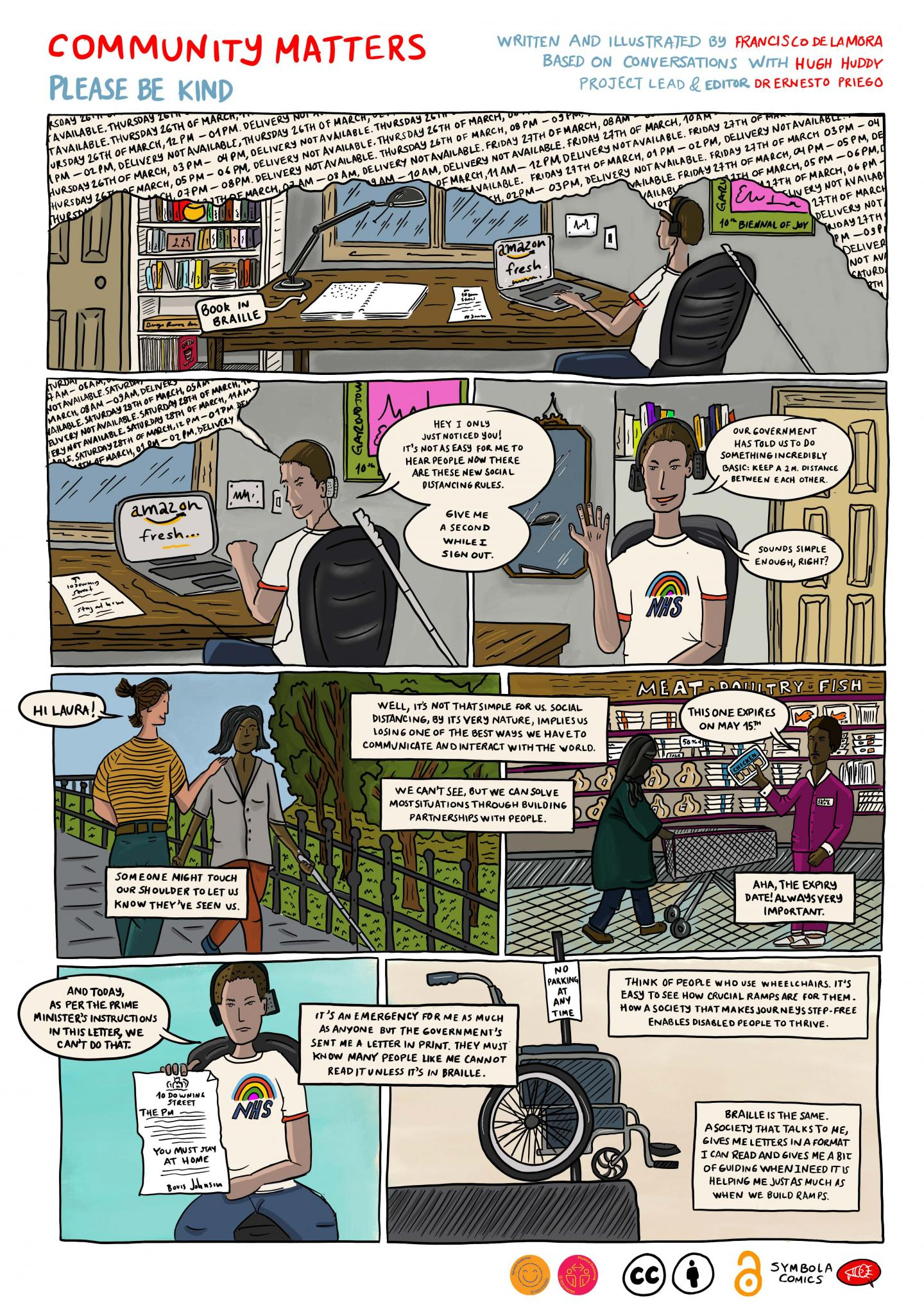 Community Matters: Please Be Kind. (A COVID-19 Response Comic).