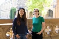 Yuanming Wang (left) with Professor Tara Murphy