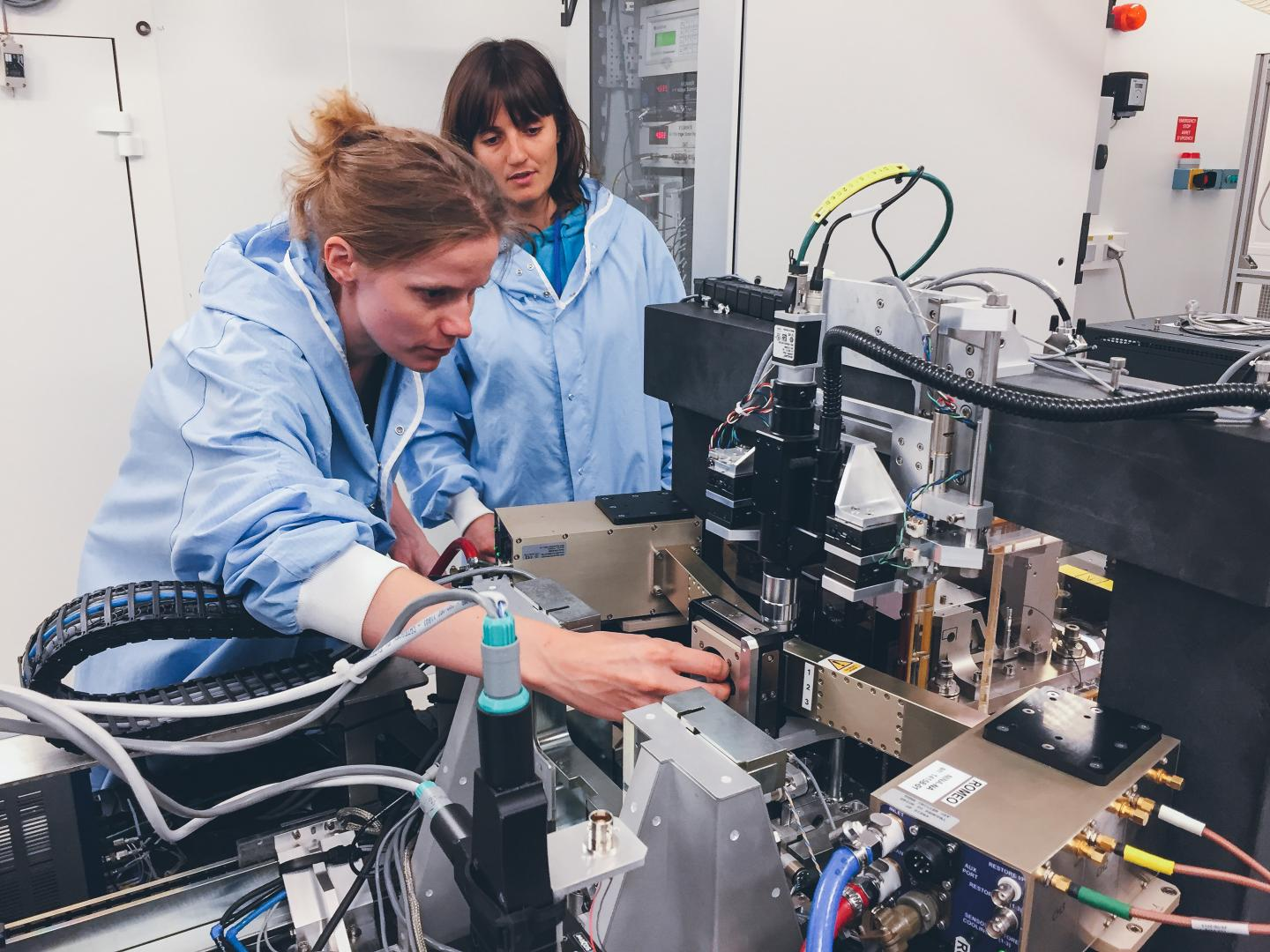 Ines Schreiver During Experiments at the ESRF