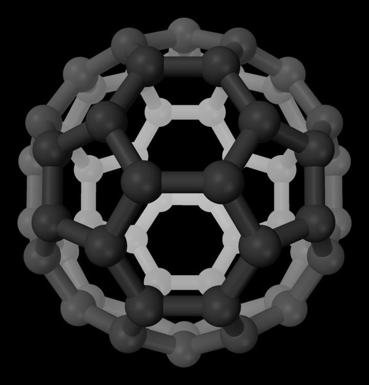 Buckminsterfullerene Perspective 3D Balls
