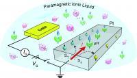 Schematic of Platinum Transistor with Paramagnetic Ionic Liquid Gate