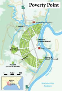 Poverty Point Site Map