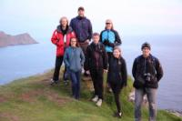 The Research Team Ashore, at a Scenic Overlook on Runde