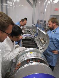 Dr. Massimilano Galeazzi Working on the Rocket