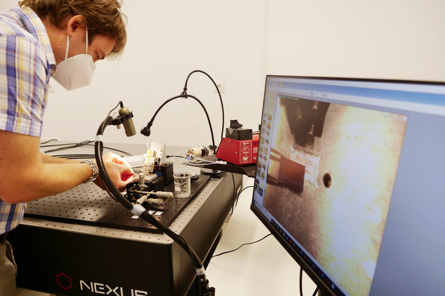 Researcher Robert Halir Working on the New System in His Laboratory BIONAND