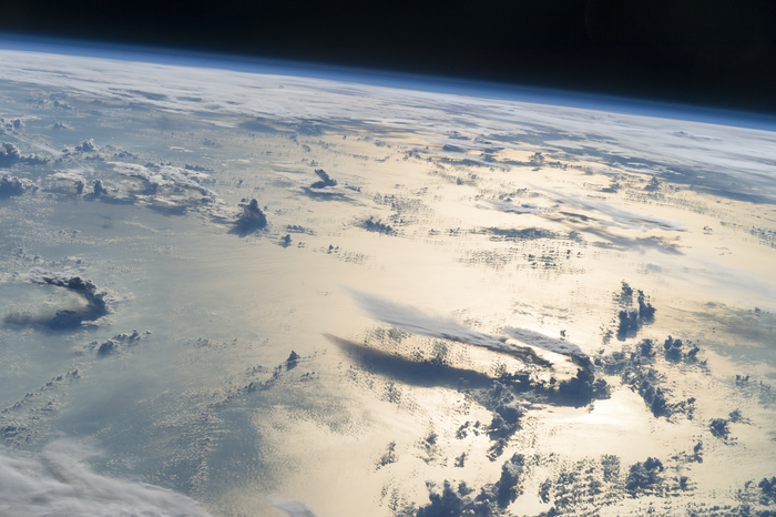 ISS Image of Clouds Over Philippine Sea