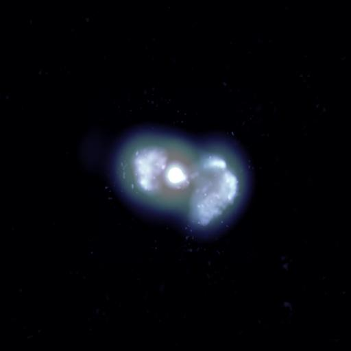 VLBA Image of a Galaxy's Young Jets