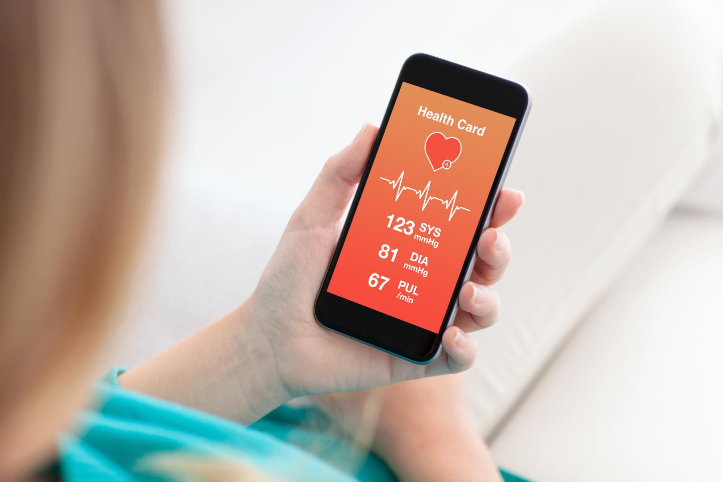 Using an app for health monitoring