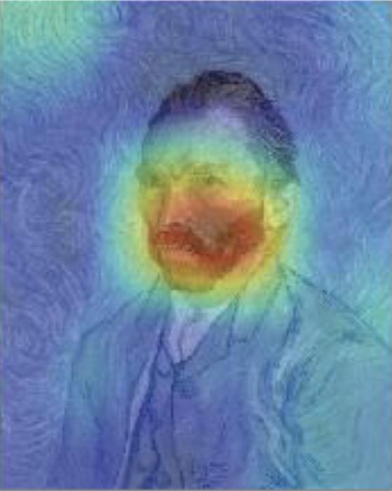 Map of Van Gogh portrait