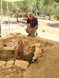 Sharon Stocker and Jack Davis at Tomb Site