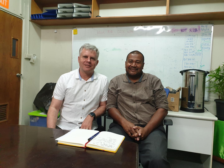 Professor Philip Hill and Sakiusa Baleivanualala