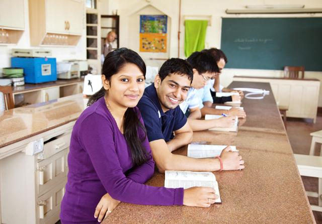 Group of students learning photo