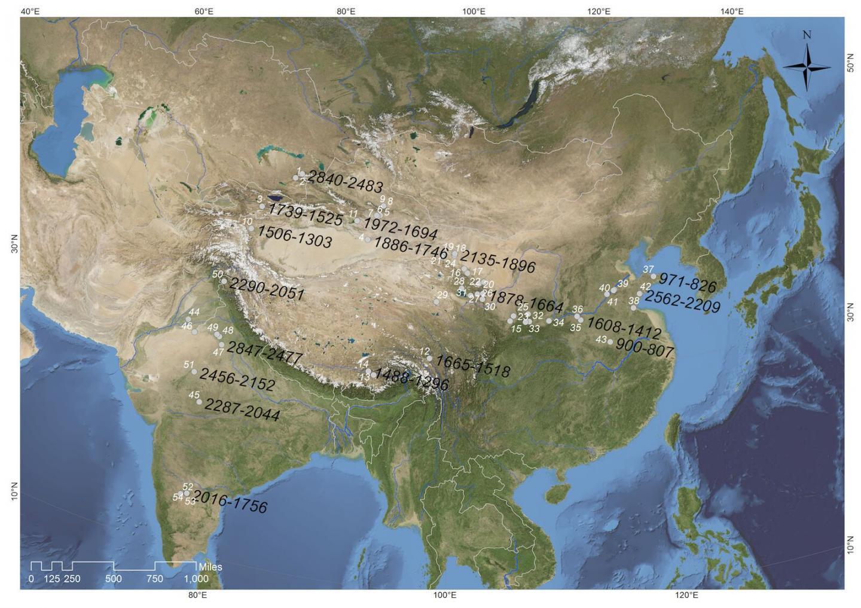 Sites Reporting Direct Radiocarbon Measurements of Barley Grains