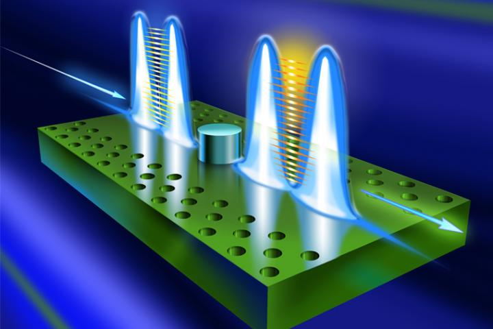 Deterministic, high-fidelity, two-bit quantum logic gate