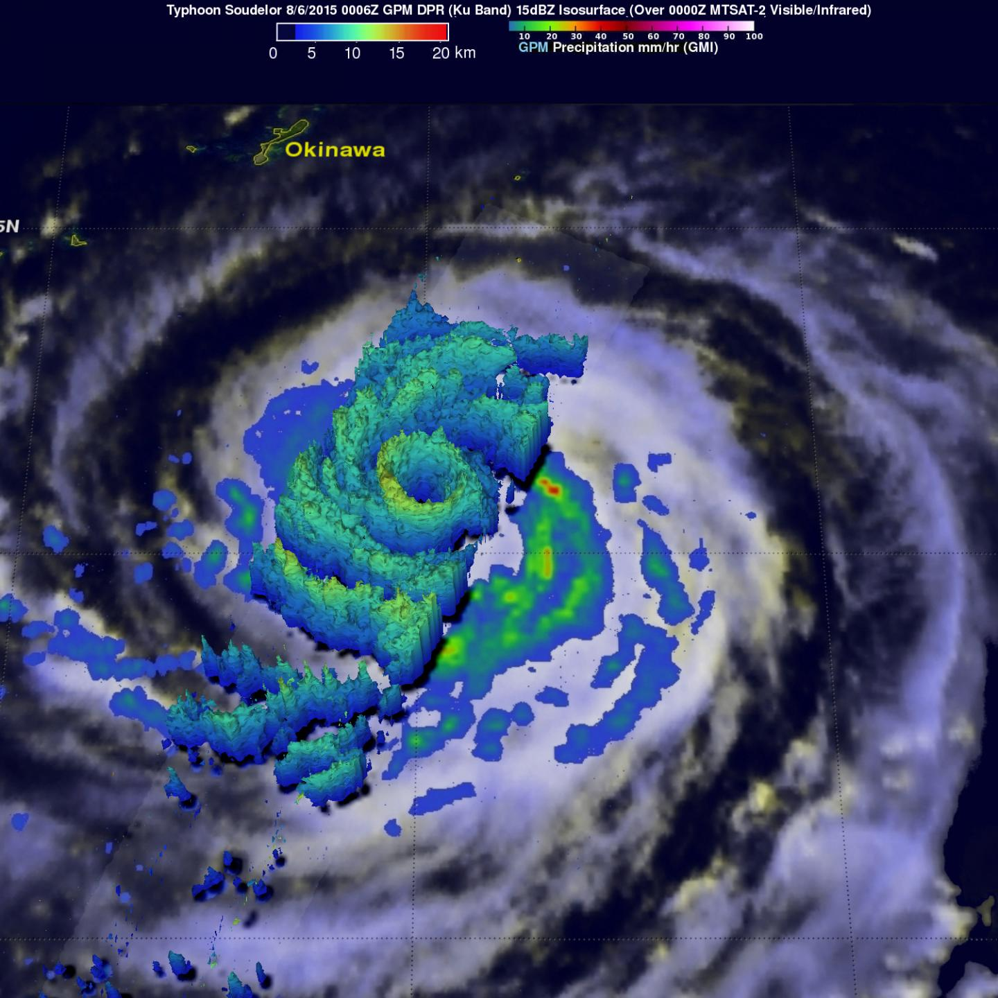 GPM Image of Soudelor