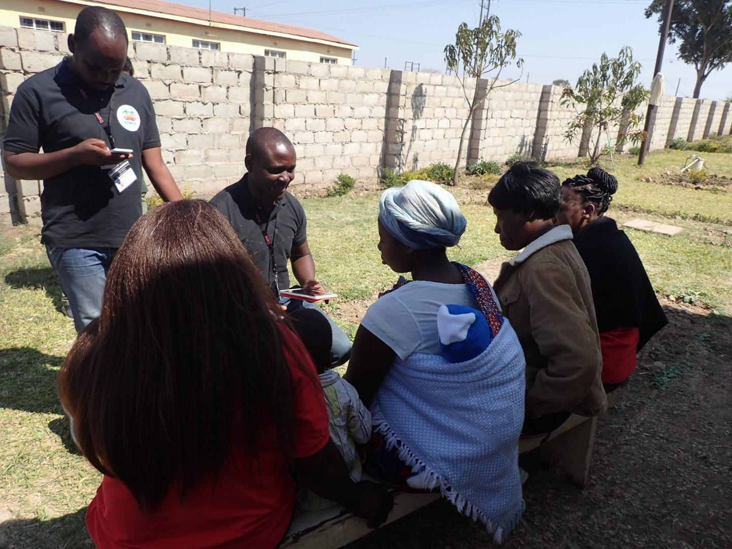 Research assistants administering the health-related quality of life survey to mothers from Kabwe