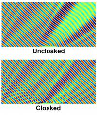 Reflection Patterns from Carpet Cloaking Simulations