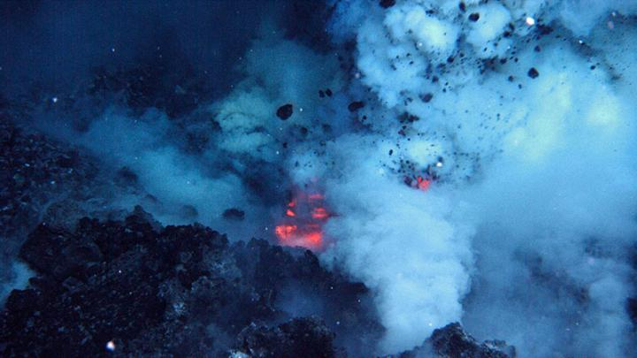 West Mato Volcano erupting in 2009